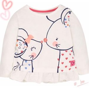Other - Cute mouse cartoon blouse for girls this spring